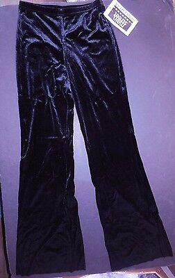 Low Rise Bootcut Dance Pants (NWT Black VELVET Lycra JAZZ PANTS child lowrise bootcut Wolff Fording Dance)