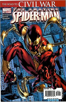 Amazing Spider-Man 529! 1st Iron Spider suit! Civil War x-over! Movie! (Awesome Iron Man Suits)