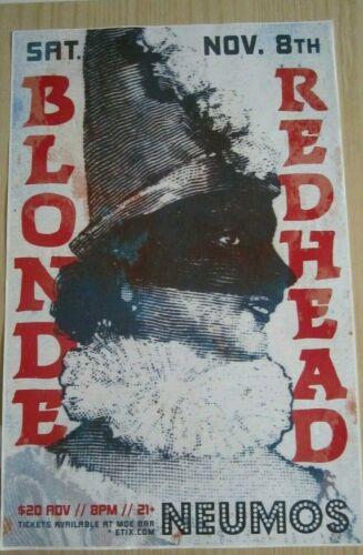 Blonde Redhead 2014 Seattle Concert Original Poster b