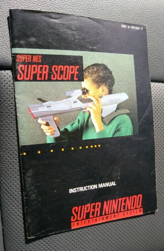 Super Nintendo SNES Super Scope - INSTRUCTION MANUAL ONLY - NO GAME