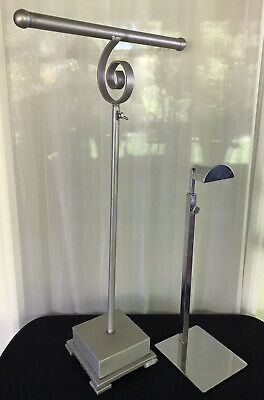 Lot Of 2 Adjustable Height Display Stands Jewelry Hats Ties Purses Belts 4027