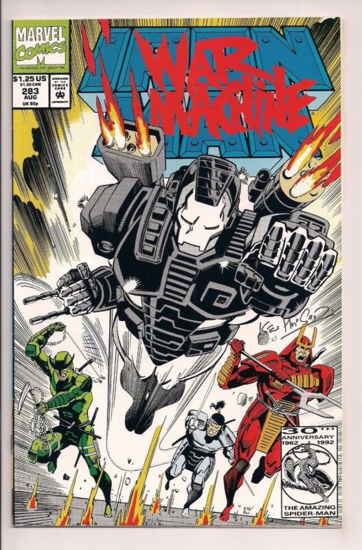 Iron Man #283 Signed Kevin Hopgood 2nd Appearance of War Machine W/COA Marvel