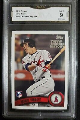 MIKE TROUT RC Reprint 2018 Topps Graded 9 Mint