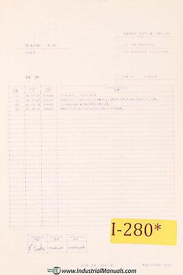 Ikegai Tur25 Nc Lathe Fanuc 10t-a Ladder Diagrams Pc-1 Manual