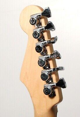 Hipshot CHROME 6-InLine Grip-Lock STAGGERED Open-Gear Locking Guitar Tuners +UMP