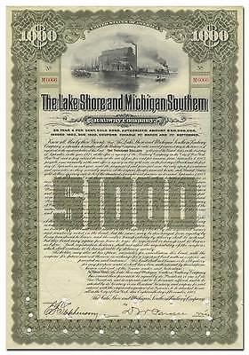 Lake Shore and Michigan Southern Railway Company Bond Certificate