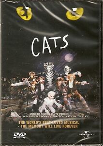 Cats - The Musical (By Andrew Lloyd Webber) DVD 1998 NEW/SEALED
