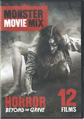 MONSTER MOVIE MIX - 12 FILMS- HORROR BEYOND THE GRAVE DVD (Q2) - Grave Halloween Movie