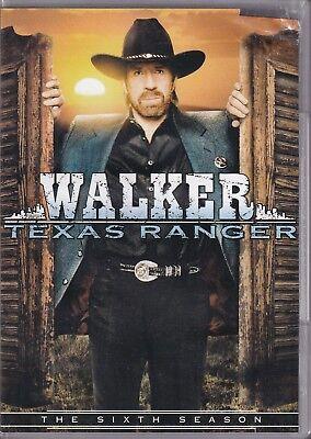 WALKER TEXAS RANGER - The Complete Sixth Season (DVD 2009 5-Disc Set) (K)