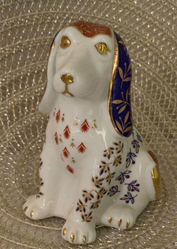 Vintage Fine Japanese Takahashi San Francisco Hand Painted Dog Ceramic Figurine