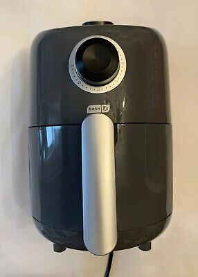 Dash Compact Air Fryer 900W 1.2 L, Small, Gray, Kitchen Appliance - Pre-Owned