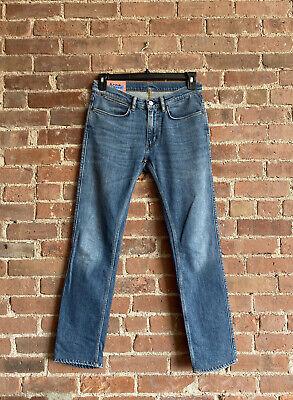 Acne Studios Men's Blå Konst Jeans Sz 30 X 30 Skinny