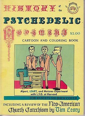 Timothy Leary History Of The Psychedelic Movement Cartoon   Coloring Book Banned
