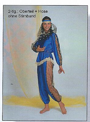 Suleika blau Kostüm 36-42 2.Wahl Bauchtänzerin Jeannie Jasmin Bollywood 1227113