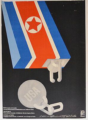 1978 Cuban Authentic Ospaaal Political Poster Plakat North Korea Cold War Art