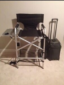 Makeup artist chair and zuca bag with inserts