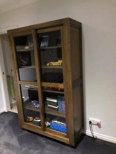 Hardwood display cabinet