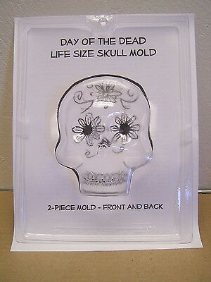 XL Extra Large 2-Sided Sugar Skull Mold Chocolate/Craft Mould - Day of the Dead (Sugar Skull Molds)