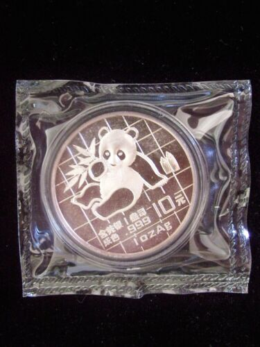 1989 China Panda 1 Ounce Silver Coin In Sealed In Mint Plastic