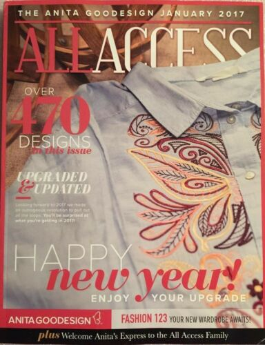 All Access January 2017 Anita Goodesign Machine Embroidery Designs CD