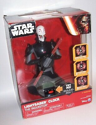 Star Wars Rebels The Inquisitor Lightsaber Clock - Disney Spin Masters BRAND NEW](Inquisitor Lightsaber)