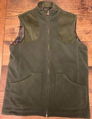 Barbour Vest Dunmoor Sporting Gilet Fleece L Large Olive Green