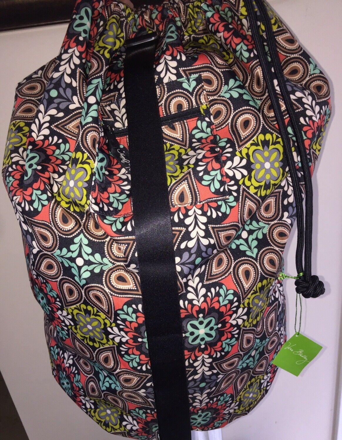 VERA BRADLEY Laundry Bag SIERRA Hamper Travel Duffel Dorm Ro