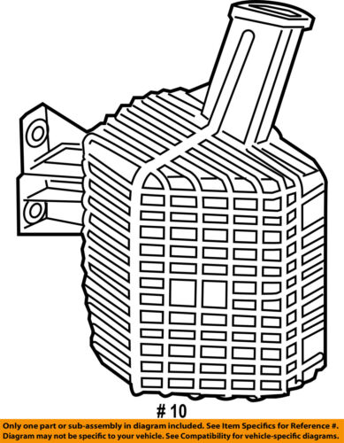 FORD OEM-Exhaust Resonator AE5Z9F763B