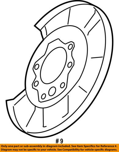 Nissan Oem Rear Brake Backing Plate Splash Dust Shield 44030wl001