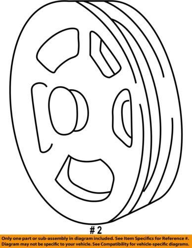 Ford Oem Pump Steering Pump Pulley F6az3a733ab