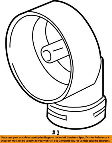 Bmw Oem 01 06 X5 3 0l L6 Alternator Air Inlet 12317501751