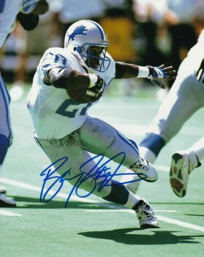 Barry Sanders LIons Signed 8x10 Photo (Reprint)