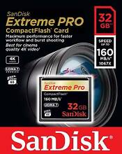 SanDisk Extreme PRO 32GB CompactFlash Memory Card UDMA 7 160MB/s Kings Park Brimbank Area Preview