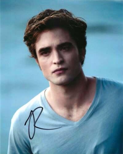 *Edward* Robert Pattinson Signed Twilight 8x10 Photo Proof Lighthouse Batman