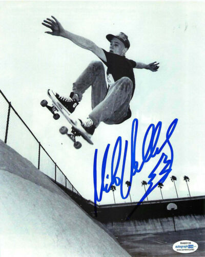 Mike V Vallely Signed Skateboarding 8x10 Photo EXACT Proof ACOA D Bones Brigade