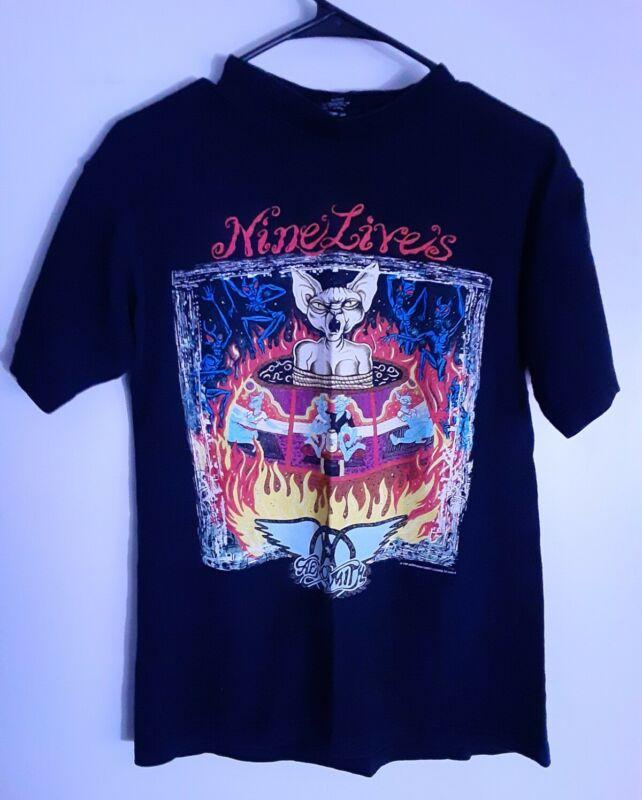 VTG RARE 1997 Aerosmith Nine Lives Concert Tour Pre Shrunk Cotton T Shirt MEDIUM