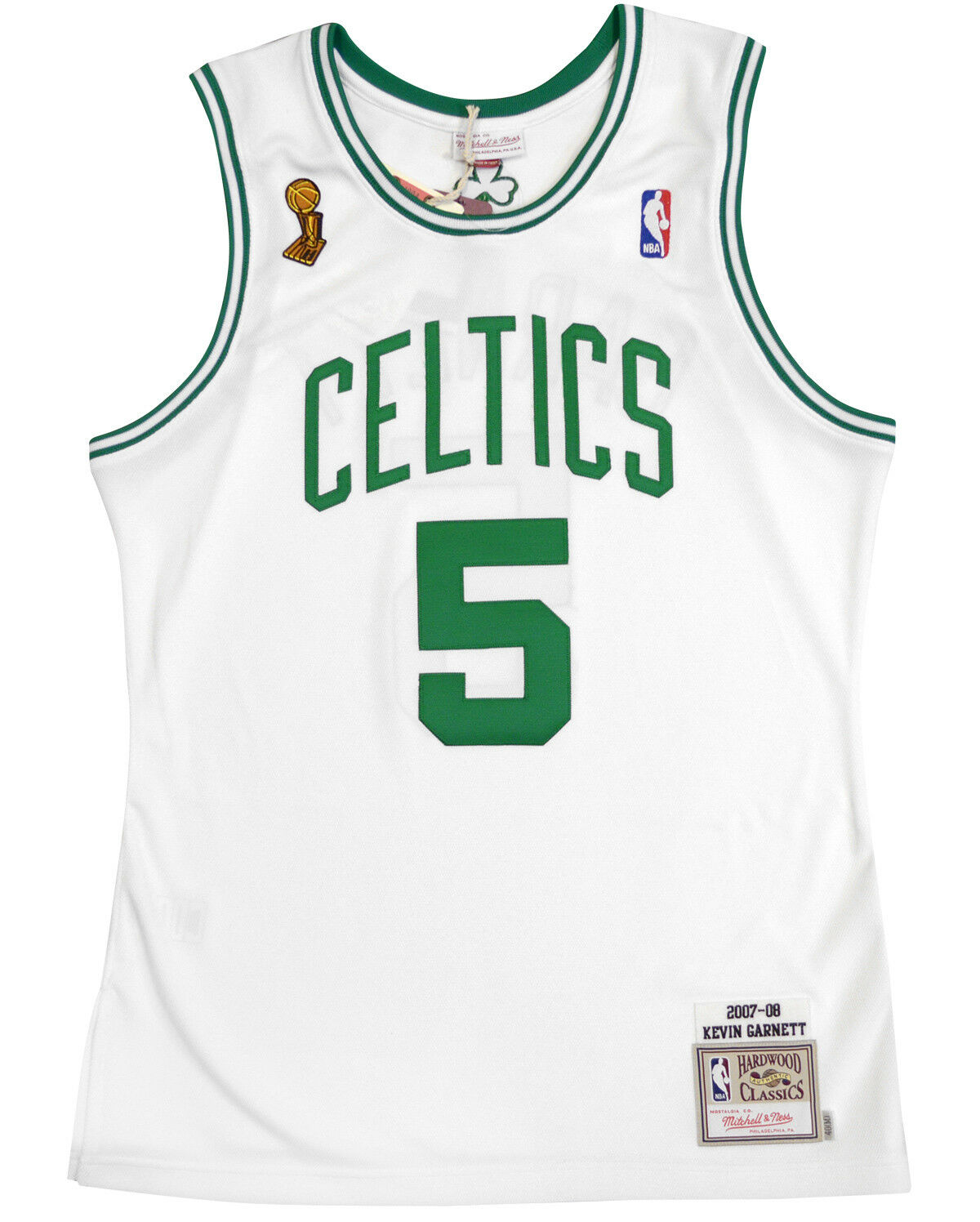 60d70d49fddc Kevin Garnett 2007-08 Boston Celtics Authentic Finals Jersey White ...