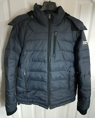 Men's Superdry Wet Scuba Dive Edition 01 Navy Blue Jacket Size Extra Large -Nice