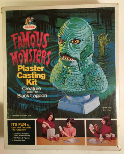 CREATURE FROM THE BLACK LAGOON Plaster Casting Set Rapco - UNUSED  Complete 1974