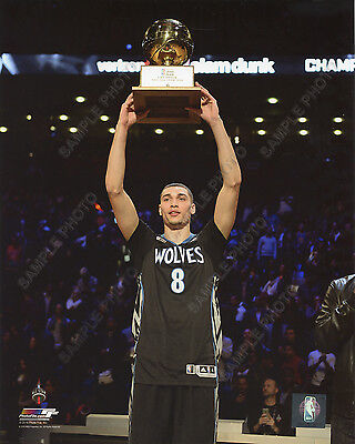 Zach Lavine NBA Slam Dunk Contest Trophy 2016 All-Star Game 8x10 Unsigned Photo - All Star Trophy