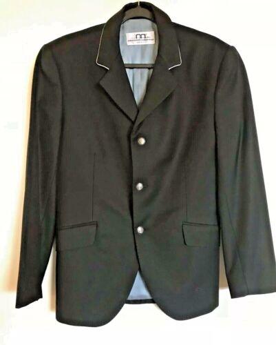 ALESSANDRO ALBANESE  IT 50 US 40 Black Riding Jacket Show Coat Mens