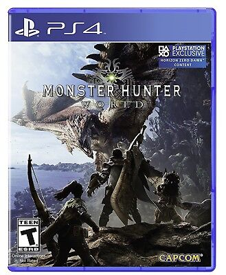 MONSTER HUNTER WORLD * PLAYSTATION 4 * BRAND NEW FACTORY SEALED!