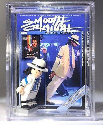 445 Michael Jackson Smooth Criminal Custom Mini Action Figure w Case - Michael Jackson Custome