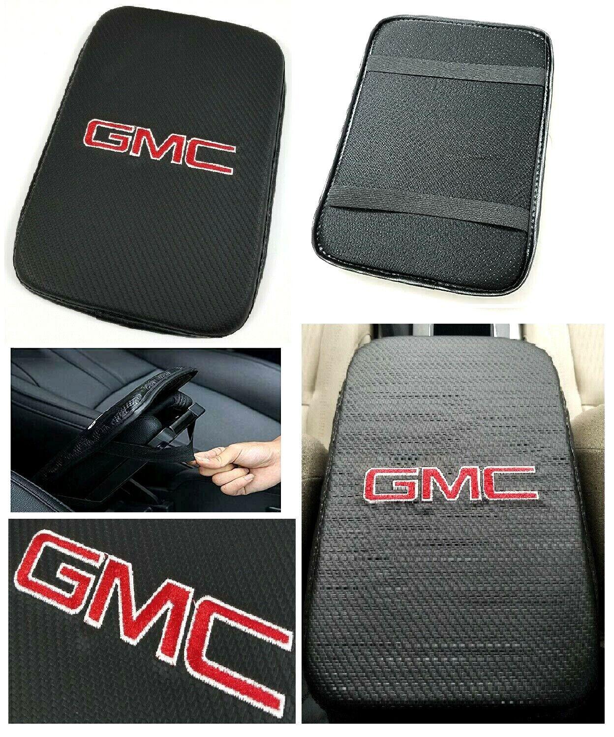 Car Parts - UNIVERSAL GMC Carbon Fiber Car Center Console Armrest Cushion Mat Pad Cover