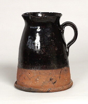 ATTRACTIVE ANTIQUE 19THC WELSH BUCKLEY COUNTRY POTTERY CONICAL JUG