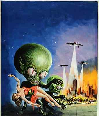 INVASION  OF THE  SAUCER  MEN  POSTER- 1957-  ART ALBERT  KALLIS-  UNIQUE- $6.99