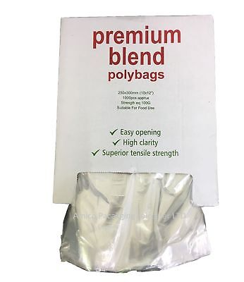 """100 Clear Plastic Polythene Bags Strong Poly Bags 6/""""x8/""""  120Gauge"""