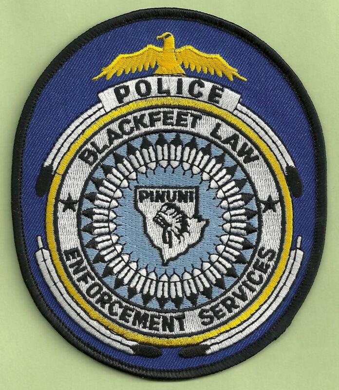 BLACKFEET MONTANA TRIBAL POLICE SHOULDER PATCH