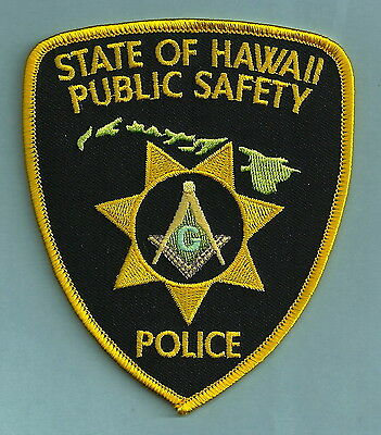 HAWAII STATE SHERIFF MASONIC LODGE POLICE PATCH