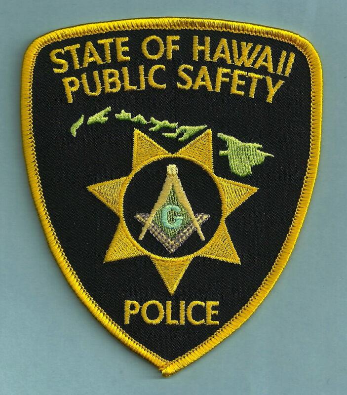 HAWAII STATE SHERIFF MASONIC LODGE SHOULDER PATCH